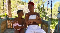 Cristiano Ronaldo Shares Adorable Family Photo With 7-Year-Old And Newborn