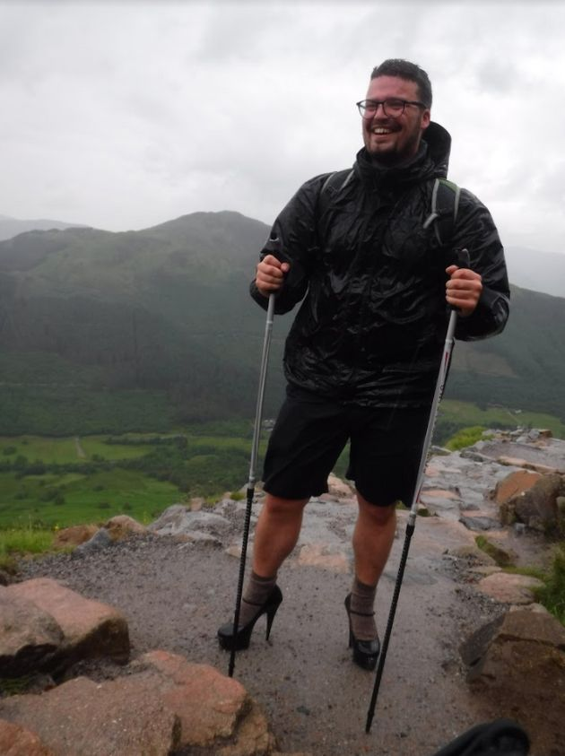 Ben Conway stunned hikers after he attempted to scale Ben Nevis in five inch