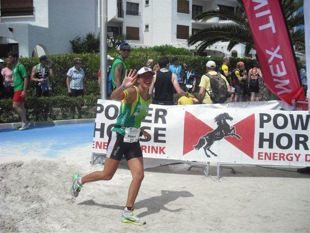 Rowena Harding competing in a triathlon in Mallorca.