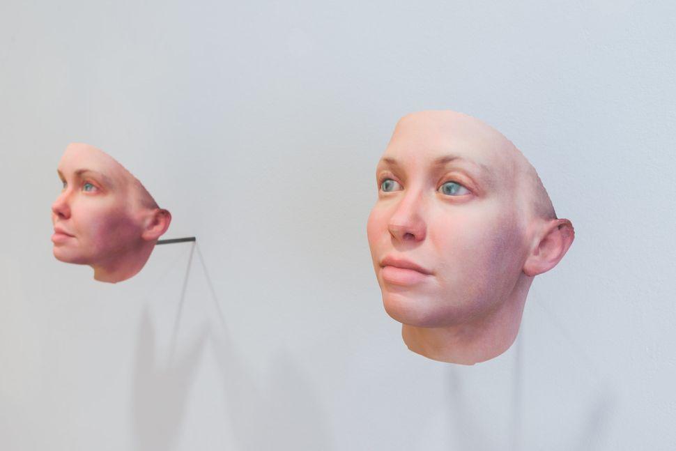 "Heather Dewey-Hagborg, ""<i>Radical Love, Chelsea Manning</i>,"" 2016. Genetic materials, custom software, 3d prints, documenta"