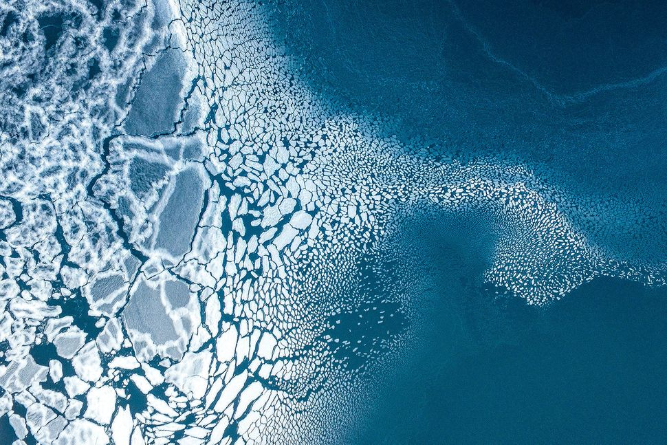 "<strong>Third place, ""Ice Formation"" by Florian Ledoux, Greenland.<br></strong>A sea ice formation in east Greenland was the"