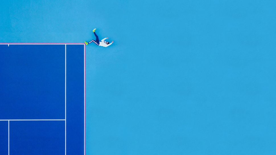 "<strong>First place, ""End of the Line"" by Martin Sanchez, the United States.</strong><br>""I noticed an empty tennis cou"