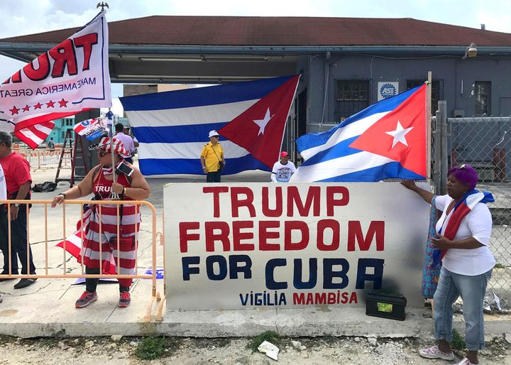 Much of Miami rallied behind the US president in reinstating the Cuban embargo. Reactions on the island have been predictabl