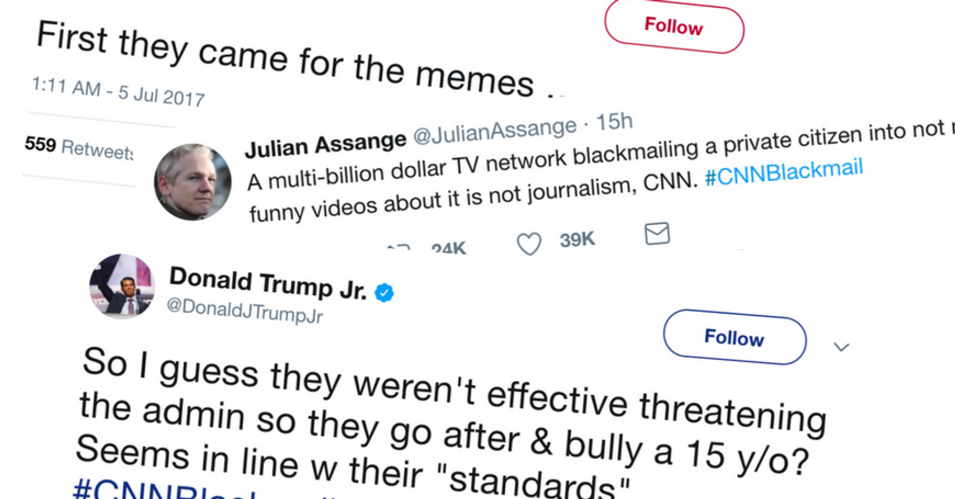 Twitterverse In Tumult After Trump Meme Maker Apologizes CNN Accused Of Blackmail