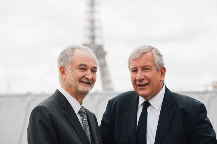 Jacques Attali (left) and Richard Attias (right), co-founders of the Global Positive Forum