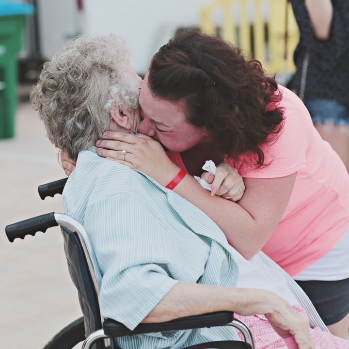 Grandma gets a hug, too.