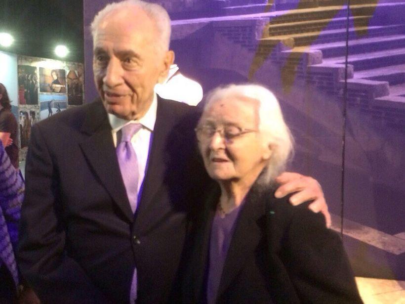 Liza with President Shimon Peres, 2015