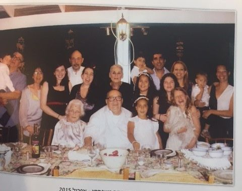 Liza and her family celebrating Passover, 2015