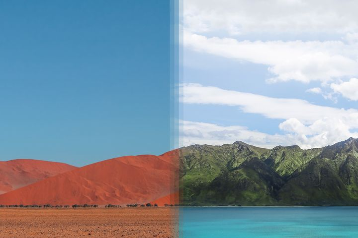 <p><strong>Sossusvlei in Namibia vs Otago in New Zealand</strong></p>
