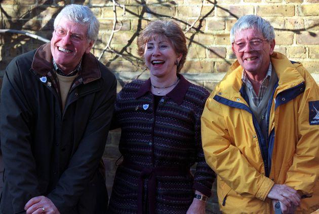 Peter Purves presented 'Blue Peter' withValerie Singleton and John