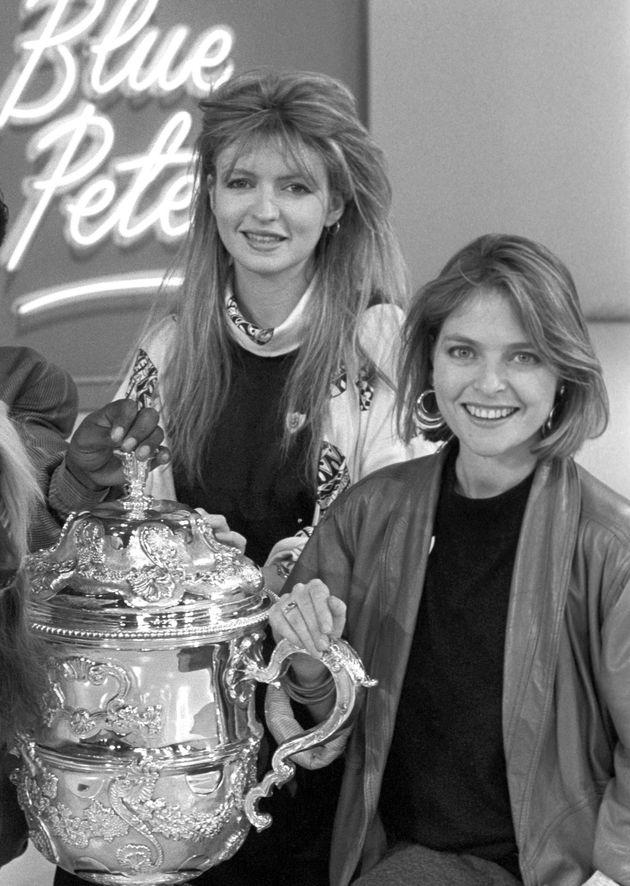 Janet Ellis (right) with co-presenter Caron