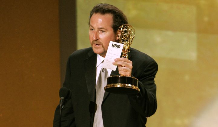 John Papsidera accepting a 2005 Primetime Emmy Award for casting.