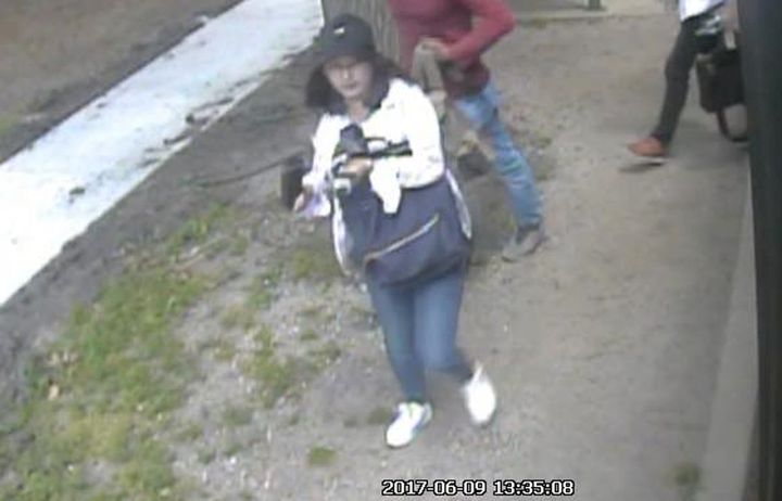 A still image from security camera video showing Yingying Zhang on the day she vanished.