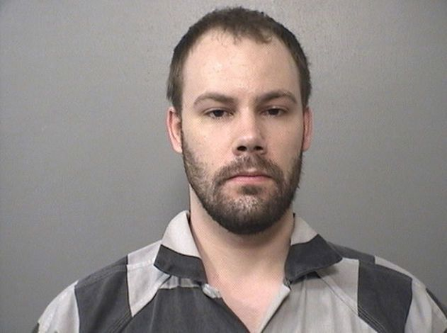 Brendt Christensen in a booking photo from Macon County Sheriff's Office.