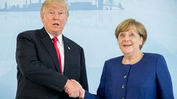 Trump's Latest Meeting With Angela Merkel Looked Even More Awkward Than His