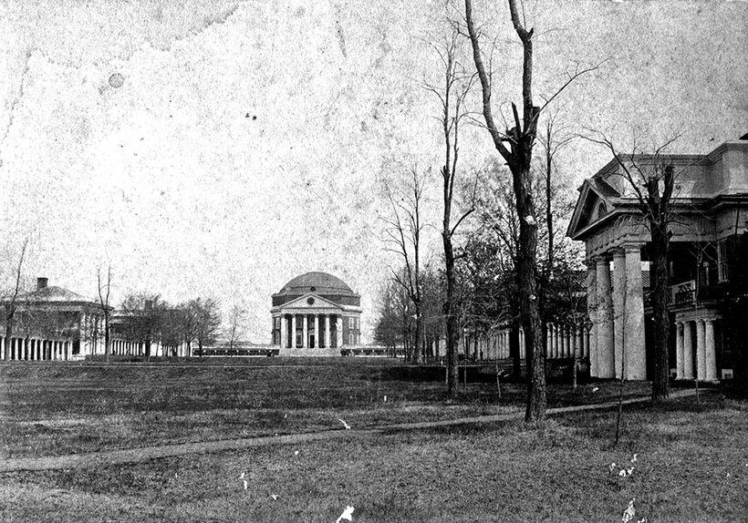 Foreground: Pavilion X; Background: The Rotunda; Architect: Thomas Jefferson