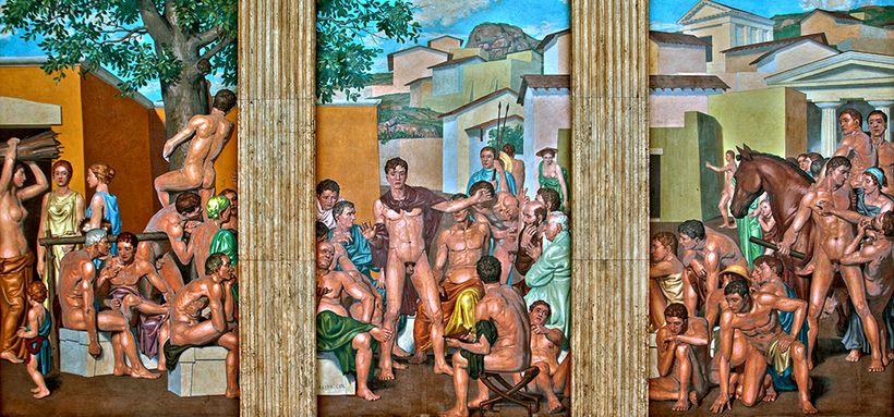 Mural, Minor Hall, University of Virginia School of Law; Artist: Allyn Cox