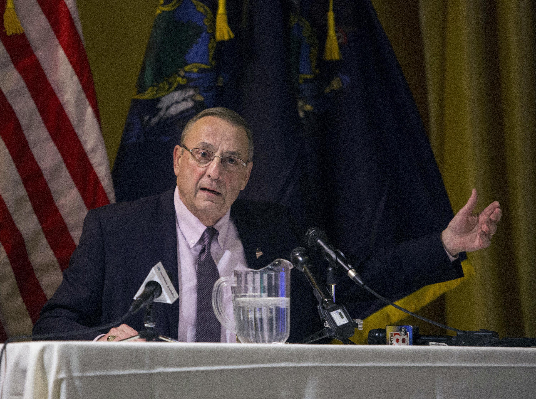 GORHAM, ME - MARCH 22: Gov. Paul LePage holds town hall in Gorham. (Staff photo by Derek Davis/Portland Press Herald via Getty Images)