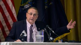 GORHAM, ME - MARCH 22: Gov. Paul LePage holds town hall in Gorham. (Staff photo by Derek Davis/Portland Press Herald via Getty Images)