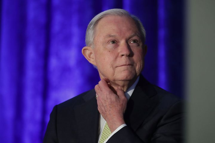 Attorney General Jeff Sessions attends the National Summit on Crime Reduction and Public Safety onJune 20 in Bethesda,