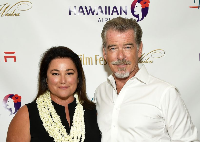 <em>Pierce Brosnan with wife Keely Shaye Brosnan at the 2017 Maui Film Festival.</em>