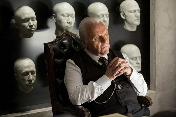 "Anthony Hopkins as a ""Westworld"" character Papsidera described as ""a good guy, bad guy, Walt Disney."""
