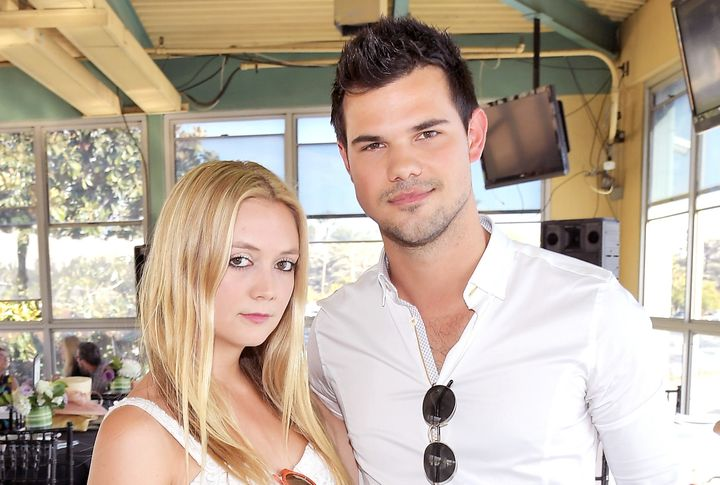 "Billie Lourd and Taylor Lautner, who starred together on ""Scream Queens,"" have reportedly split."