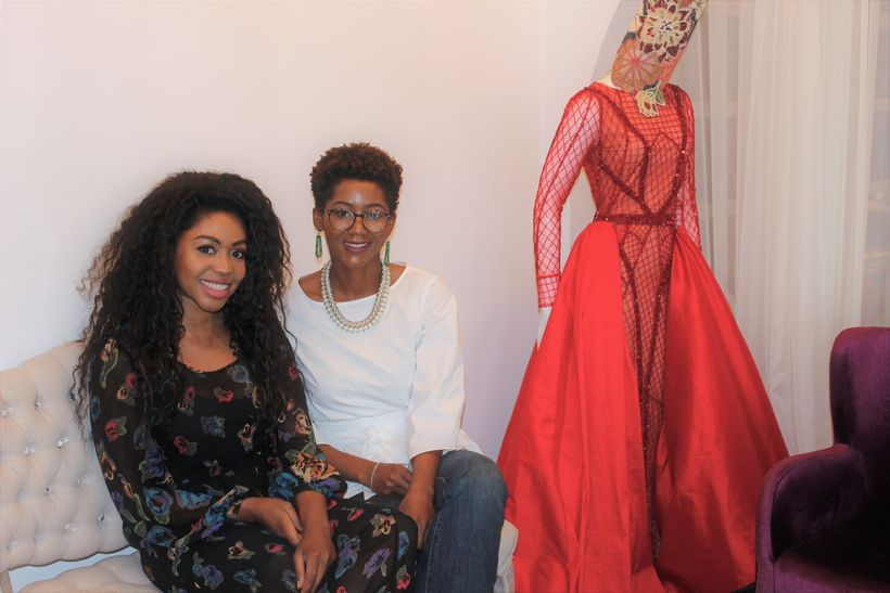 """With the designer Esé Azénabor and one of her many unique creations Image via  <a rel=""""nofollow"""" href=""""https://www.mark541.co"""