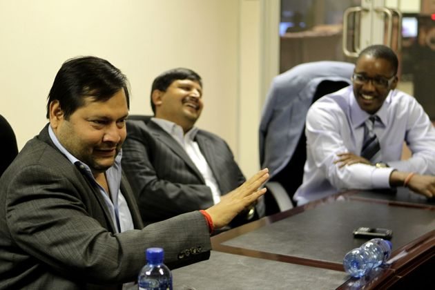 Indian businessmen Ajay and Atul Gupta and Duduzane Zuma, the son of South African President Jacob
