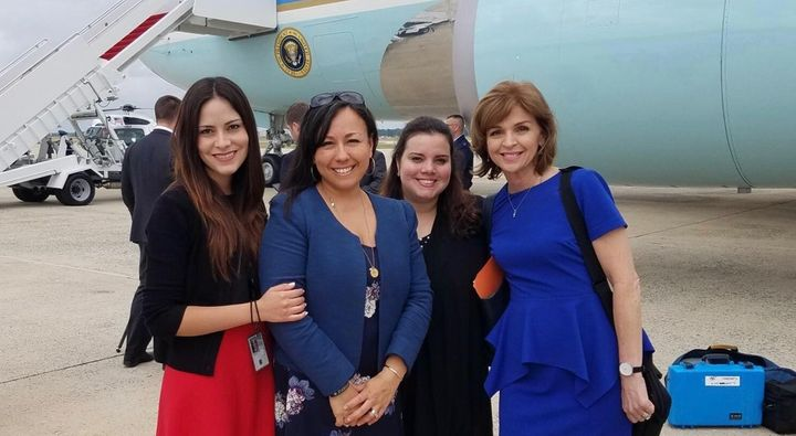From left to right: Sofia Boza-Holman, Jennifer Korn, Andeliz Castillo, and Helen Aguirre Ferre.
