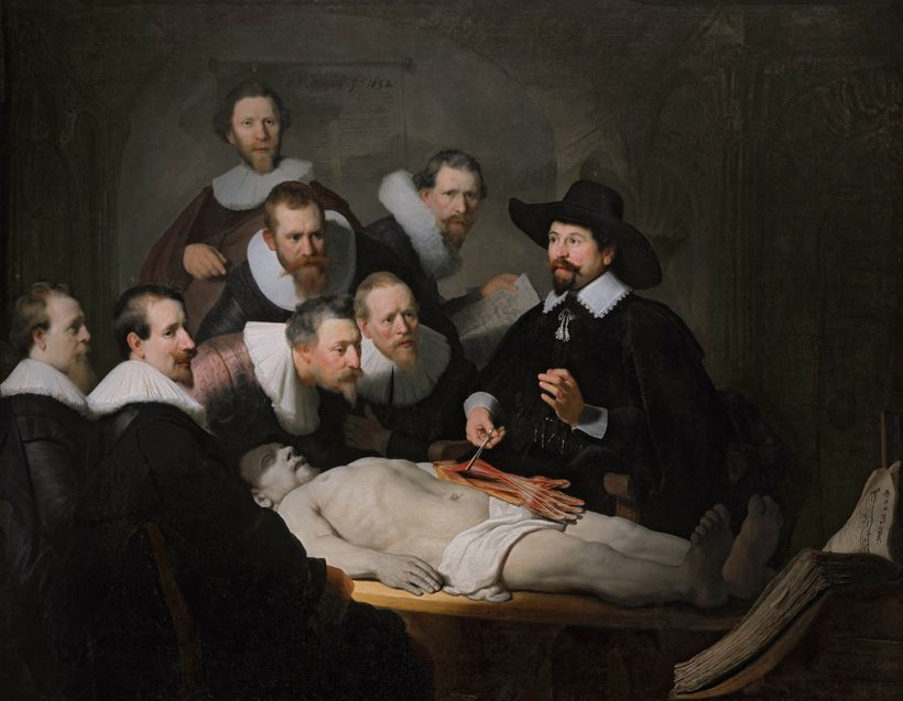 "Rembrandt's ""The Anatomy Lesson of Dr. Nicolaes Tulp,""  demonstrating curiosity."