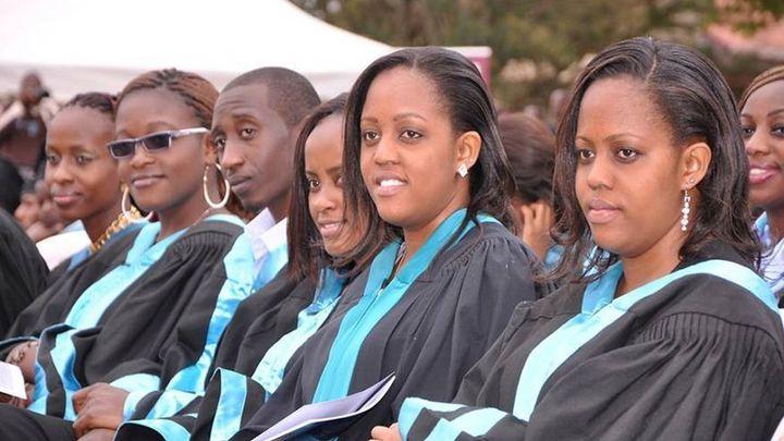 African American graduate students celebrate completing their academic programs at Harvard University.
