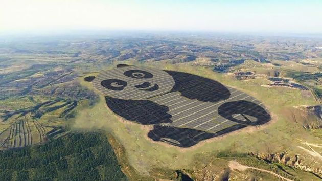 A Cute Giant Panda-Inspired Solar Farm Developed