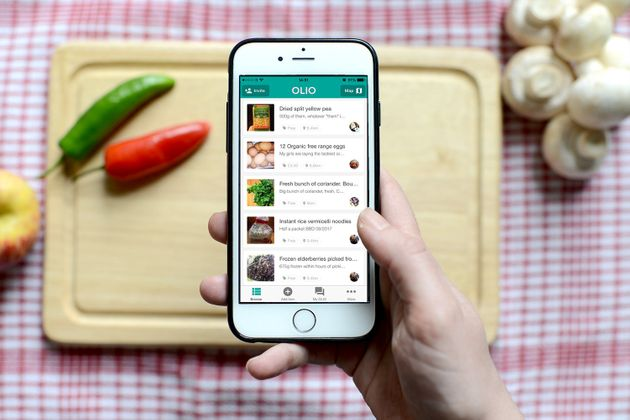 OLIO started life as a food waste app but peopleare also finding it useful for combatting food