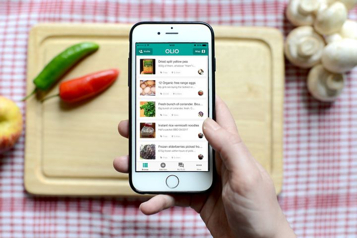OLIO started life as a food waste app but peopleare also finding it useful for combatting food poverty