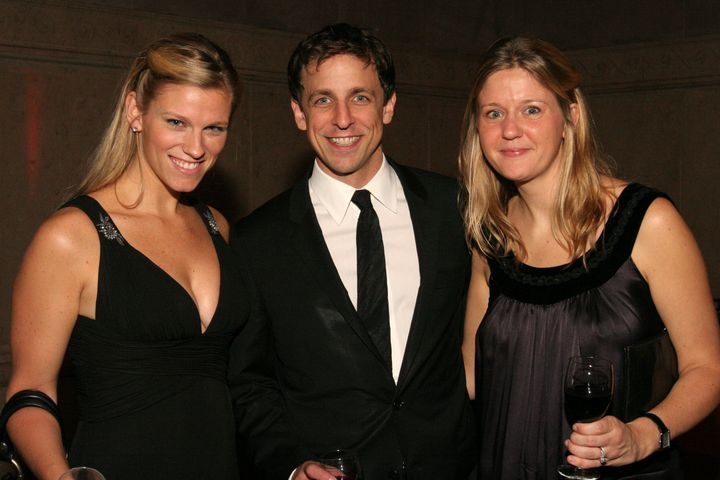 (L-R) Lindsay Shookus, Seth Meyers and Erin David in 2006.