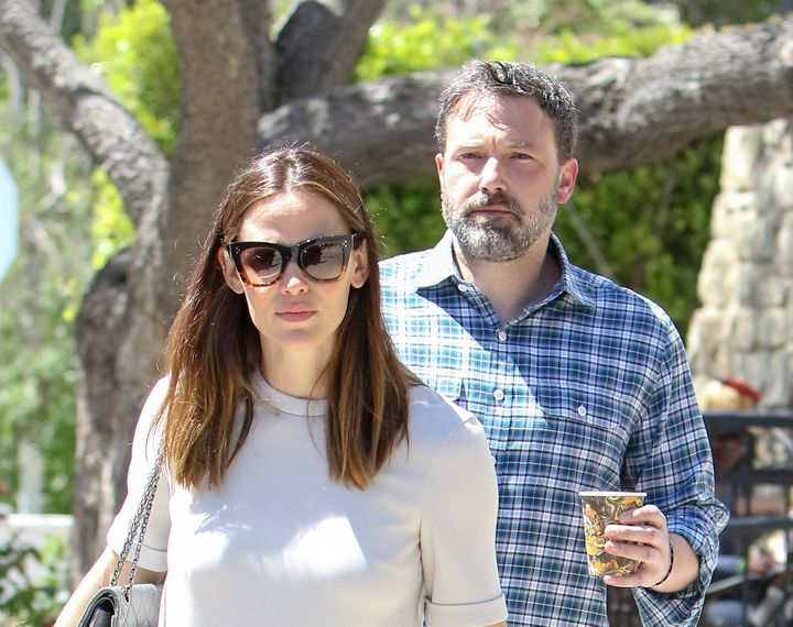 Jennifer Garner and Ben Affleck step out together in April 2017.