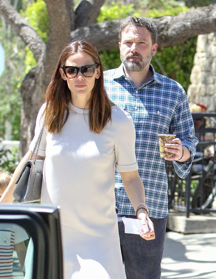 Jennifer Garner and Ben Affleck step out together in April 2017.