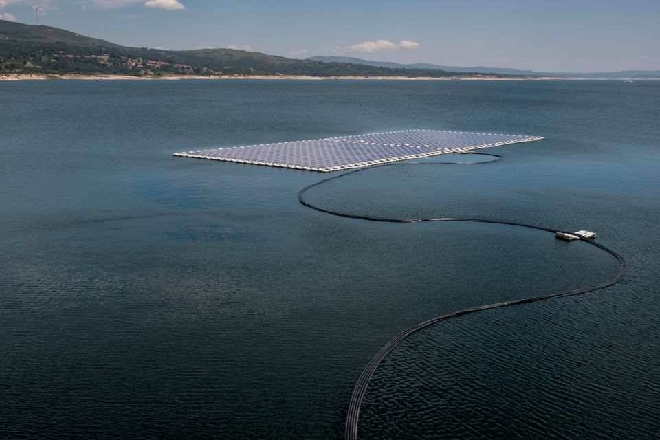 Local officials inaugurated the floating solar panels at Alto Rabagão dam on July