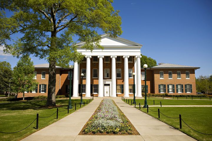 The Lyceum, oldest building on the campus of the University of Mississippi.