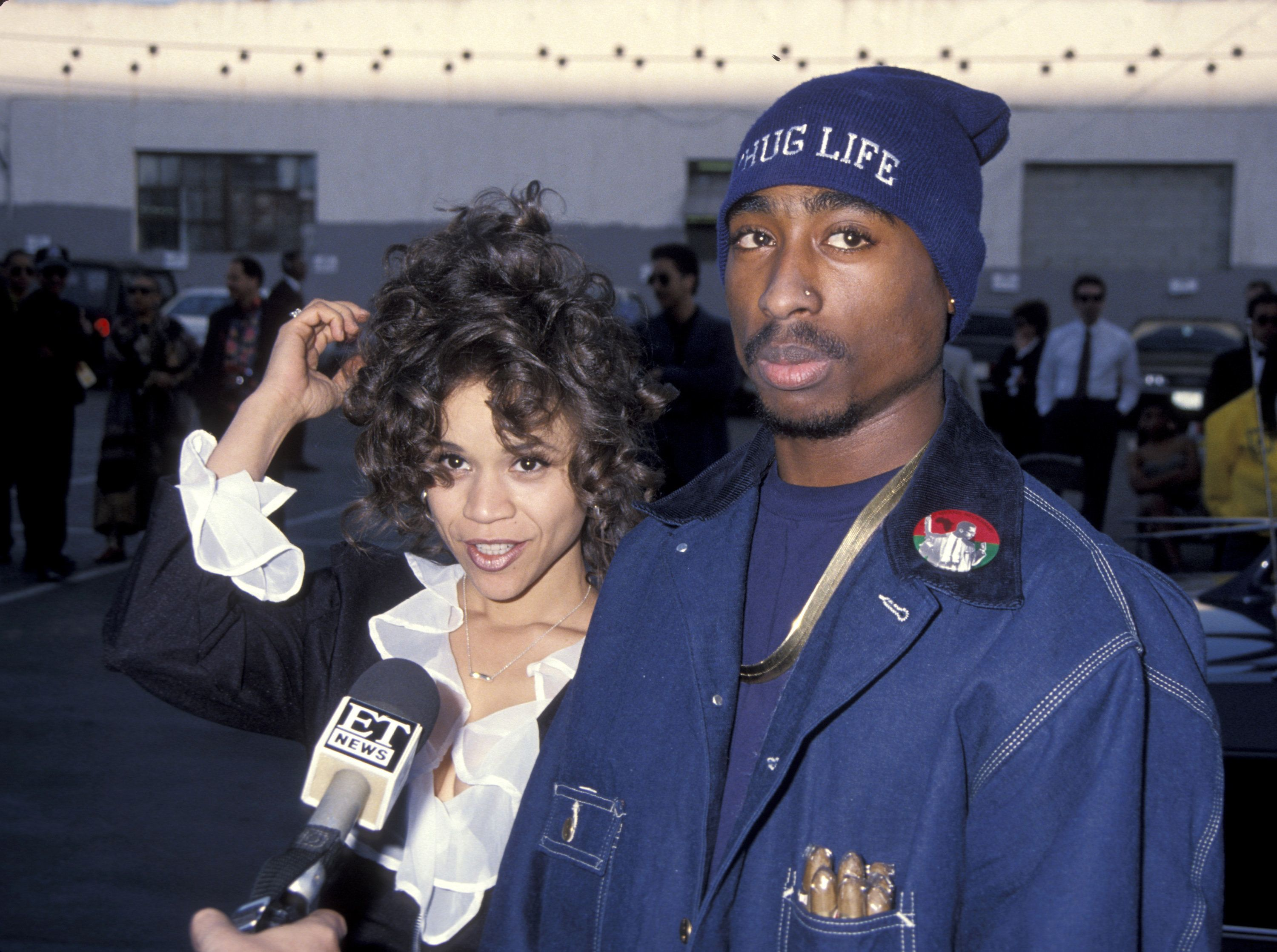 Rosie Perez and Tupac Shakur (Photo by Ron Galella/WireImage)