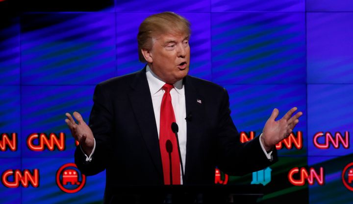 Trump, appearing last year in a CNN presidential debate, is now at war with the network.