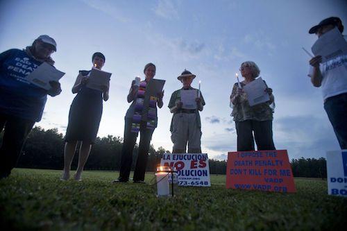 Vigil for William Morva in Virginia.