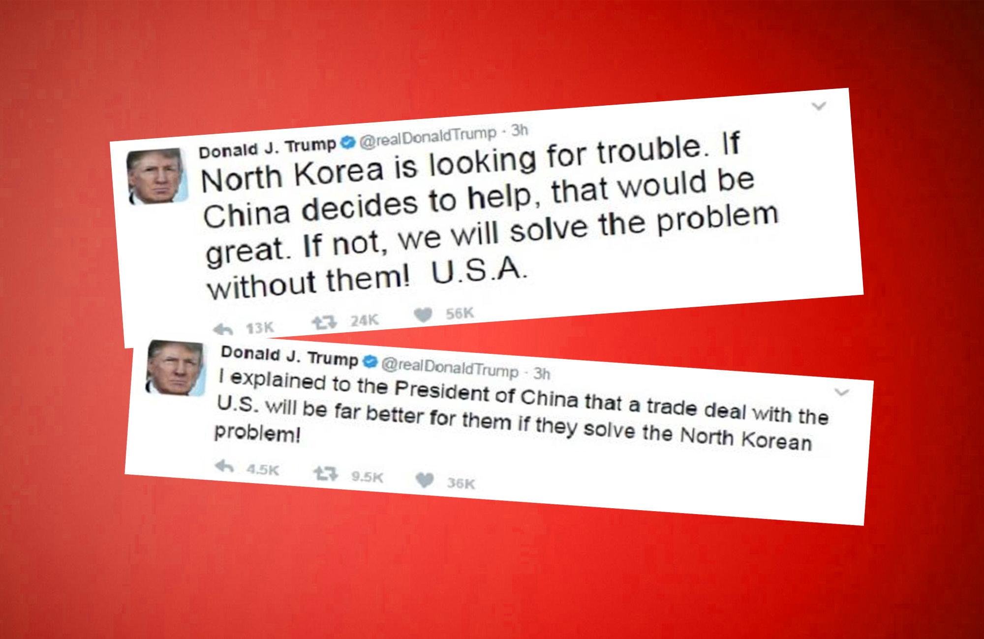 Trumps Twitter takes on North Korea