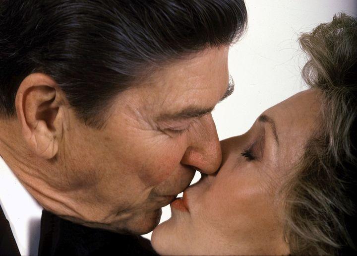 <p>President and Mrs. Ronald Reagan, The White House, Washington, D.C., 1985. </p>