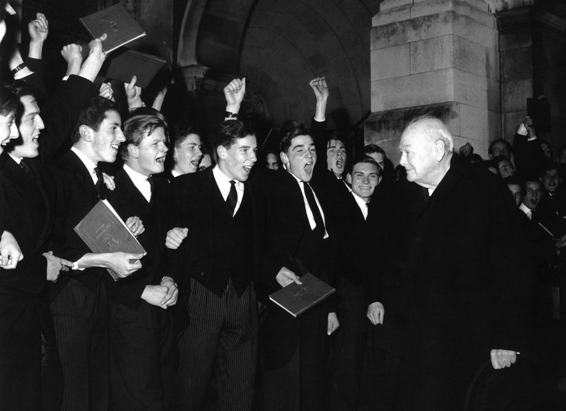 Sir Winston Churchill, Harrow School, England, 1960.