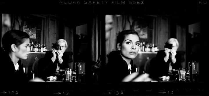 <p>Andy Warhol and Bianca Jagger, The Factory, New York City, 1977. Courtesy Holden Luntz Gallery, Palm Beach.</p>