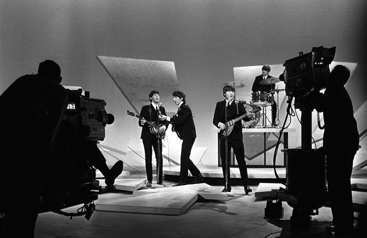 "<p>The Beatles on ""The Ed Sullivan Show, New York City 1964. </p>"