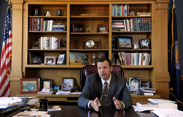 Kansas Secretary of State Kris Kobach talks about the Kansas voter ID law that he pushed to combat what he believes to be ram