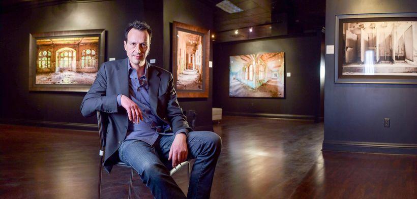 """Mario Basner in his """"World Heritage Collection"""" exhibition gallery at Tivoli Village Las Vegas"""